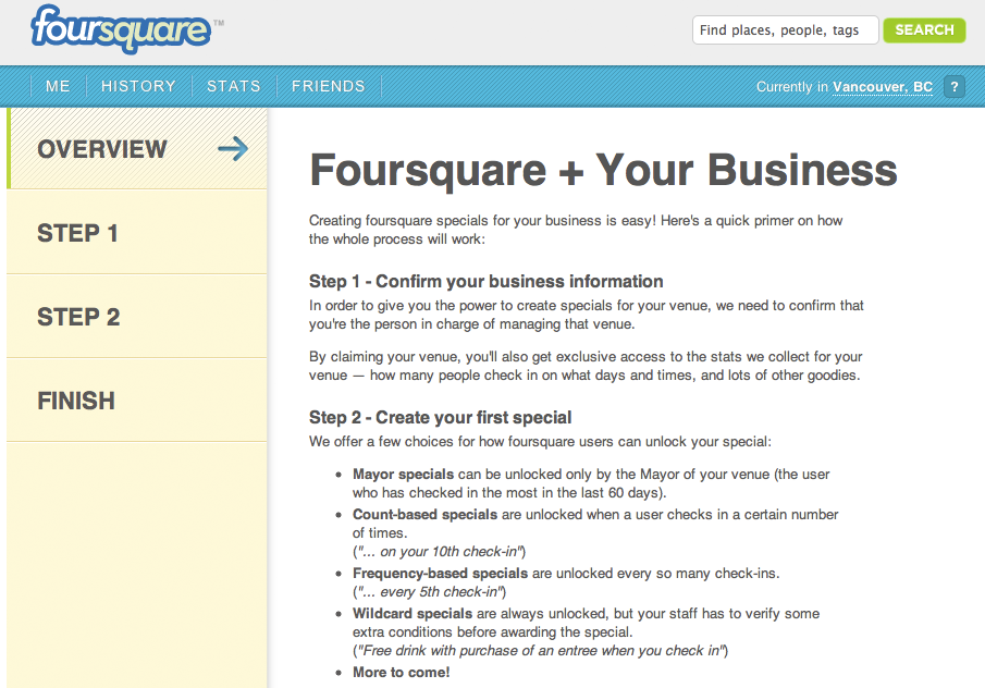 foursquare business dashboard