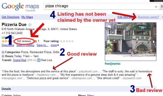 Google Places unclaimed listing