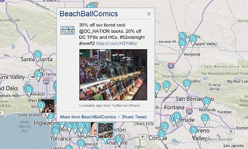 Find Local Tweets on a Map
