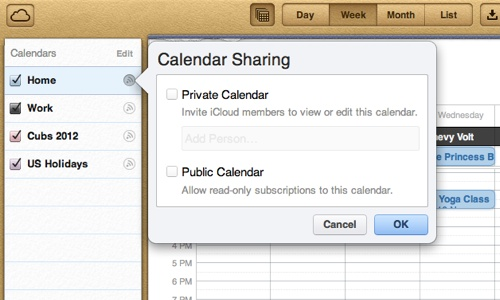 Apple Calendars
