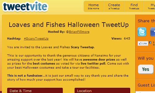 ScaryTweetUp Tweetvite