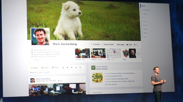 Testing of Facebook's Single-Column Timeline Continues